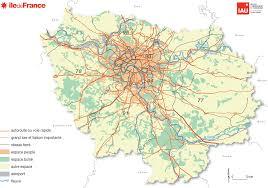 France Region Map by Carte Ile De France Autoroute Voie Rapide Grand Axe Reseau Ferre Gif