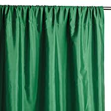 Teal Taffeta Curtains Shantung Green Window Panel