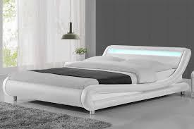 Faux Bed Frame Led Lights Modern Designer White Faux Leatherle Design Your Own