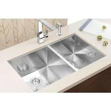 Blanco Zerox U  Stainless Steel Double Bowl Kitchen Sink - Blanco kitchen sinks canada