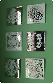 reverse stenciling mirror tiles craft stores and stenciling
