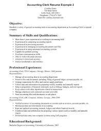 Accounts Payable Resume Skills Receiving Clerk Resume Sample Resume For Your Job Application