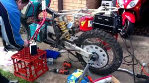 electric motocross bikes scrappy bush electric dirtbike youtube