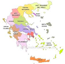 Map Of Athens Greece by Greece Political Map