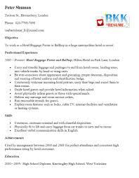 Porter Resume Sample by Porter Resume Resume For Your Job Application