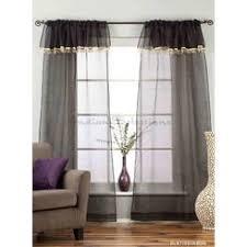 Black Curtains With Valance Black Curtain Valance