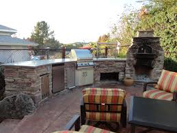 custom arched outdoor kitchen w fire magic appliances and
