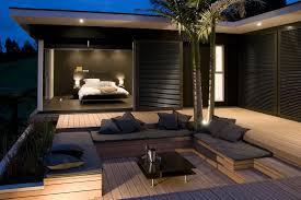 relaxing outdoor bathroom decor inspiration with pleasant bathtub