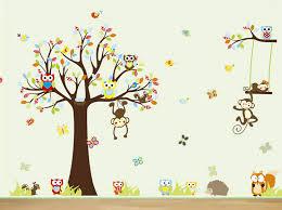 stickers animaux chambre bébé mignon de bande dessinée chambre de bébé stickers muraux animaux