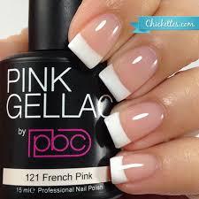 pink gellac gel polish french manicures u2013 chickettes soak off gel