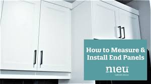 how to replace kitchen end panels how to measure and install end panels in your kitchen