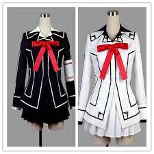 vampire knight cosplay costume yuki cross white or black womens