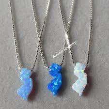 blue opal necklace 50pcs lot mix colors 5 6x13mm nj opal necklace 925 sterling