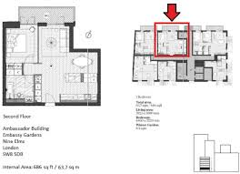 1 bedroom flat for sale in ambassador building embassy gardens