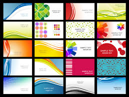 variety of dynamic flow line of business card templates 02 vector