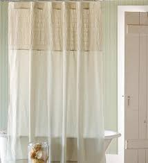 Sheer Shower Curtains Ruched Linen Shower Curtain Shower Curtains