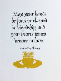wedding blessing blessing with the claddagh for that special and groom