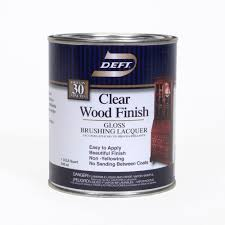 deft 1 qt gloss interior clear wood finish brushing lacquer 01004