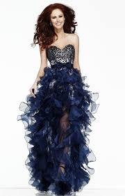 high low ruffle wedding dress charming colorful crystals removable bow high low