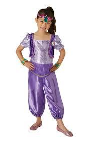 girls shimmer u0026 shine shimmer fancy dress costume book day genie