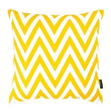 coussin imprime finlandek coussin imprimé zigzag jaune moutarde 40 cm kerava