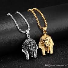 vintage silver pendant necklace images Wholesale vintage men necklaces egyptian pharaoh pendants chain jpg