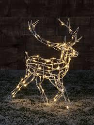 outdoor decorations lights large outdoor reindeer fia uimp