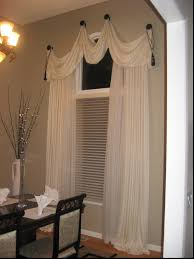 elegant swag window treatment ideas unbelievable ideas