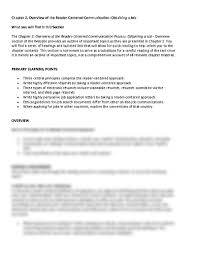 What Is A Scannable Resume Chapter 2 Overview Of The Reader Centered Communication