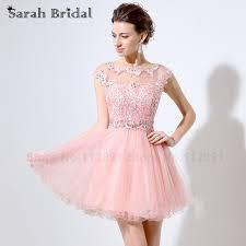 dresses for 8th grade graduation online shop illusion pink lace appliques homecoming dresses