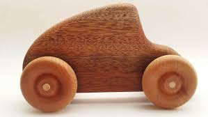 wooden car wooden toy race car wood car hand made cherry kid toys