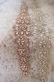 bridal sash swarovski gold rhinestone sash belt bridal sash