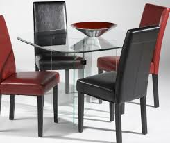 Modern Black Leather Dining Chairs Dining Room Contemporary Leather Dining Chairs With Wooden Dining