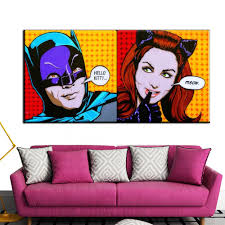 posters for home decor xh422 large size pop batman painting on canvas pop art poster for
