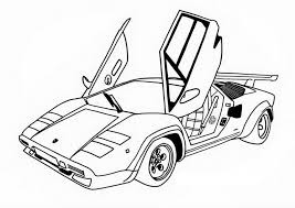 awesome race car side wings open coloring page free printable