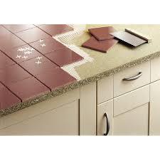 carreler une cuisine plan de travail aggloméré à carreler mat l 185 x p 63 cm ep 28 mm