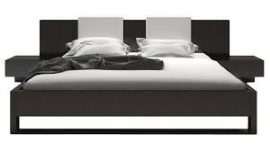 Wooden Bed Viserys Platform Wooden Bed Walnut Zuri Furniture