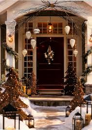 front door entrance decorating ideas design for christmas idolza