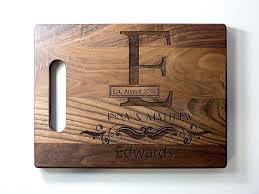 customized anniversary gifts personalized engraved monogram cutting board wedding