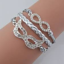 infinity jewelry bracelet images Silver diamond mask bracelet crystal infinity jewelry JPG