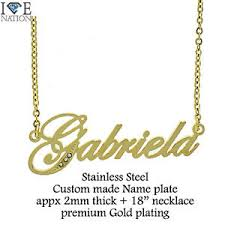 Gold Plated Necklace With Name New Gold Plated Thick Gabriela Name Pendant With Gold Plated 18