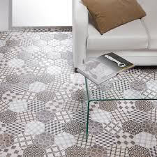 decorative hexagon floor tiles are perfect for creating a