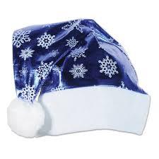 blue santa hat 12ct beistle metallic blue santa hat bulk party supplies