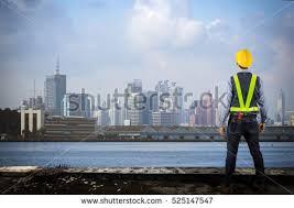backdrop city engineer holding yellow helmet backdrop city stock photo 525147547