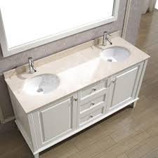 Art Bathe Lily  White Double Bathroom Vanity Solid Hardwood Vanity - White vanities for bathrooms