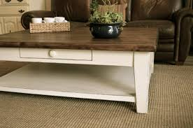 massive farmhouse coffee table with storage space the workshop