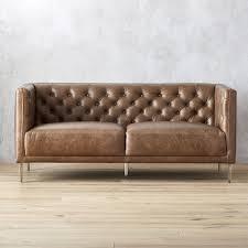 Leather Apartment Sofa Leather Sofas Cb2