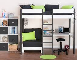 High Sleeper With Futon Bunk Beds With Futon High Sleepers And Childrens