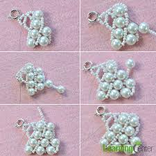 white pearl beaded necklace images Pearl jewelry design how to make a handmade white pearl bead jpg