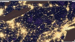 Light Pollution Map Usa by 2012 Pennsylvania At Night Nasa Pics About Space